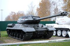 O tanque pesado do soviete IS-2 Imagens de Stock