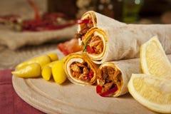 O tantuni da carne da carne é um tipo do kebap turco tradicional Imagens de Stock Royalty Free