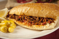 O tantuni da carne da carne é um tipo do kebap turco tradicional Imagem de Stock Royalty Free