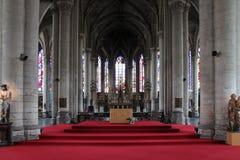 Ołtarz - katedra Lille, Francja Zdjęcia Royalty Free