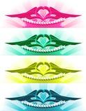 O tatuagem do coração ilustração royalty free