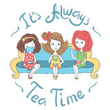 O tea party Imagem de Stock
