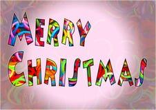 O tear colorido do Feliz Natal une a multi cor Foto de Stock Royalty Free