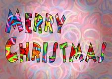 O tear colorido do Feliz Natal une a multi cor Fotos de Stock