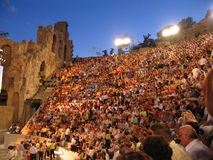 O teatro antigo imagem de stock