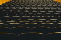 O teatro assenta a sala de concertos interna da fileira do assento da audiência foto de stock royalty free