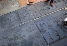 O teatro chinês de Grauman, Hollywood, Los Angeles, EUA Imagens de Stock Royalty Free