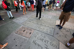 O teatro chinês de Grauman, Hollywood, Los Angeles, EUA Fotografia de Stock