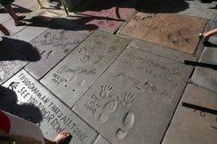 O teatro chinês de Grauman, Hollywood, Los Angeles, EUA Fotos de Stock Royalty Free