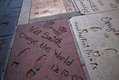 O teatro chinês de Grauman, Hollywood, Los Angeles, EUA Foto de Stock Royalty Free
