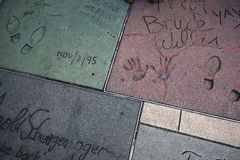 O teatro chinês de Grauman, Hollywood, Los Angeles, EUA Imagem de Stock