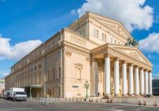O teatro de Bolshoi em Moscou Fotografia de Stock