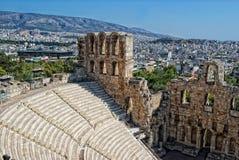 O teatro de Odeon em Atenas, Greece Imagem de Stock
