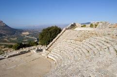 O teatro de Segesta em Sicília Foto de Stock Royalty Free