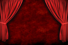 O teatro do estágio drapeja com iluminação dramática ilustração do vetor