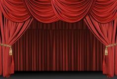 O teatro do estágio drapeja o fundo Foto de Stock Royalty Free