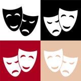 O teatro do vetor mascara o ícone ilustração do vetor