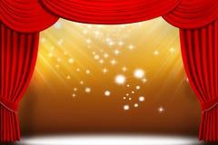 O teatro drapeja ilustração stock