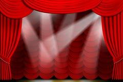 O teatro drapeja ilustração royalty free
