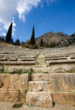 O teatro em Delphi, Greece Fotos de Stock Royalty Free