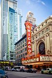 O teatro famoso de Chicago em Chicago, Illinois. Fotografia de Stock Royalty Free