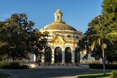 O teatro famoso de Lope de Vega em Sevilha, Espanha fotografia de stock