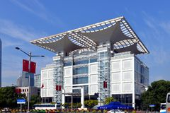 O teatro grande de Shanghai Fotos de Stock Royalty Free