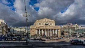 O teatro grande em Moscou Imagens de Stock Royalty Free