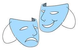 O teatro mascara o símbolo Fotografia de Stock