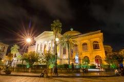 O Teatro Massimo Vittorio Emanuele em Palermo, Sicília Italy imagens de stock royalty free