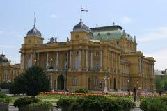 O teatro nacional croata Fotografia de Stock Royalty Free