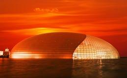 O teatro nacional em Beijing foto de stock