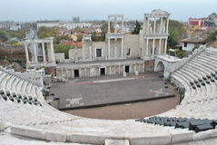 O teatro romano de Plovdiv Imagem de Stock Royalty Free