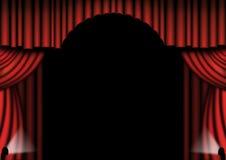 O teatro vermelho drapeja ilustração stock