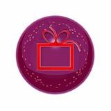 O tecla-ícone redondo de ano novo Imagens de Stock Royalty Free