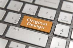 O teclado com chave incorpora e exprime o texto moderno do PC do botão original do projeto Fotografia de Stock Royalty Free