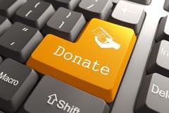 O teclado com doa o botão. ilustração stock