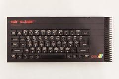 O teclado de computador do vintage no robô e os fabricantes mostram Foto de Stock