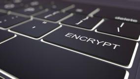 O teclado de computador preto e luminosos modernos cifram a chave rendição 3d Fotografia de Stock Royalty Free