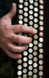 O teclado de um bayan Fotografia de Stock Royalty Free