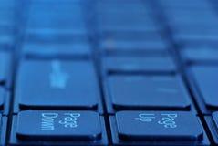 O teclado de um portátil Fotografia de Stock Royalty Free