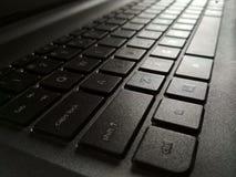 O teclado preto olha preto Fotografia de Stock Royalty Free