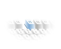 O teclado refresca a chave Imagem de Stock Royalty Free