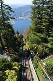 O teleférico de Brunate Imagem de Stock Royalty Free