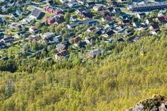 O teleférico de Tromso em Noruega Fotos de Stock