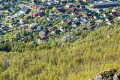 O teleférico de Tromso em Noruega Imagens de Stock Royalty Free