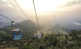 O teleférico de Yao Mountain foto de stock