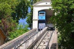 O teleférico de Zagreb Imagens de Stock Royalty Free