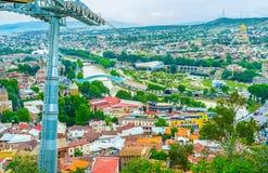 O teleférico em Tbilisi imagens de stock royalty free