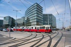 O teleférico moden dentro Viena fotografia de stock royalty free